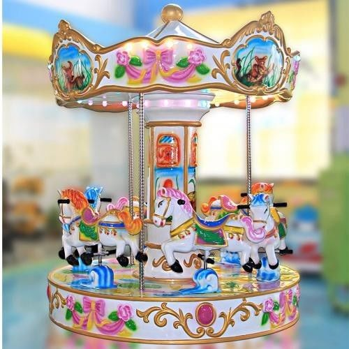 Rotating Coin Operated Carousel /  Children Entertainment Park Carousel Games