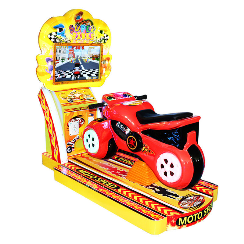 Motorcycle Arcade Machine Racing / Simulator Motorbike Arcade Machine 22 Inches