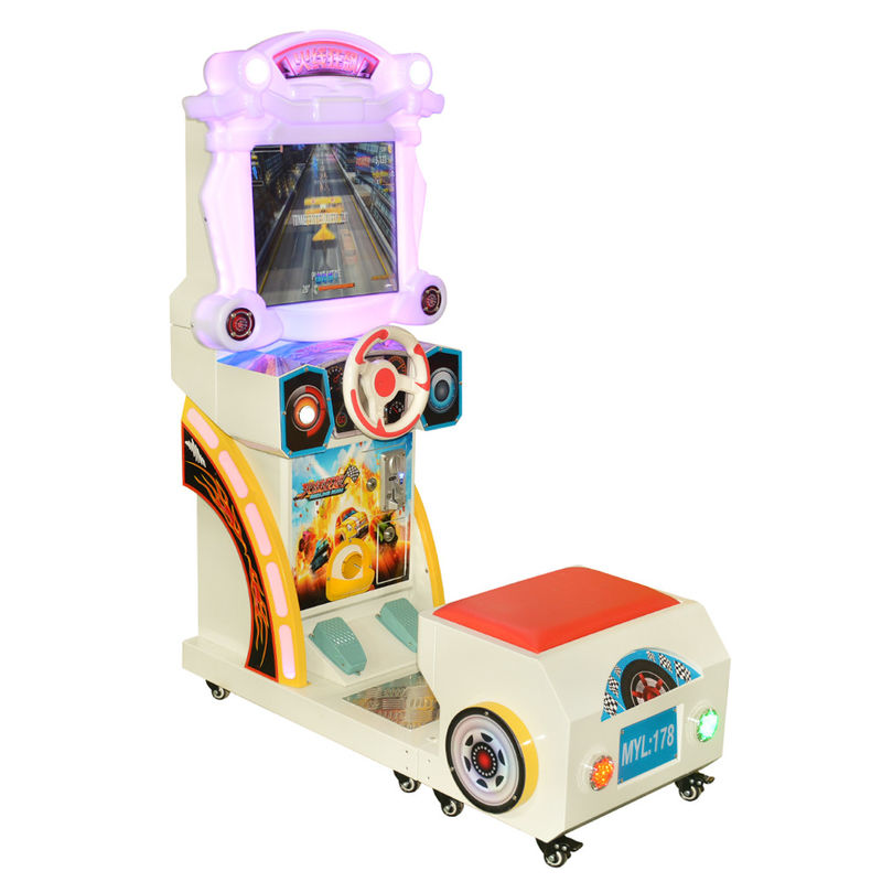 Children Car Racing Game Machine / Car Driving Arcade Games One Person