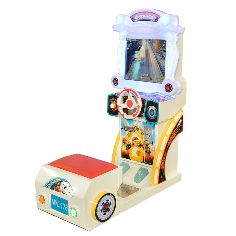 Car Racing Arcade Game Machines Kids Simulator Wheel 125W Power Consumption